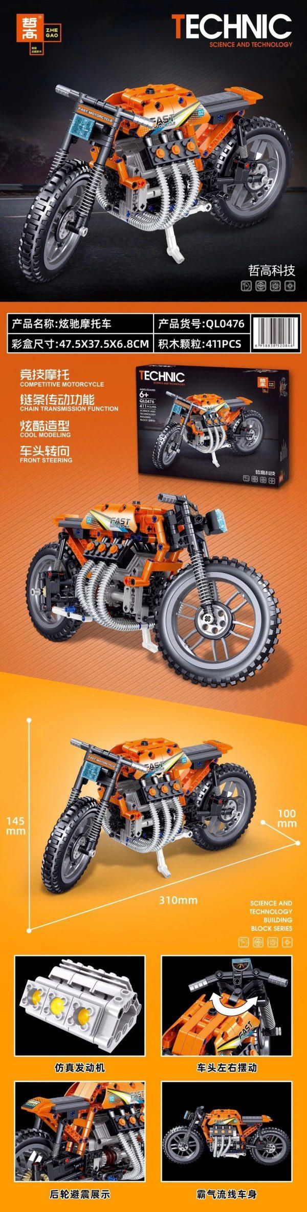 ZHEGAO QL0476 Xuanchi Motorcycle 0