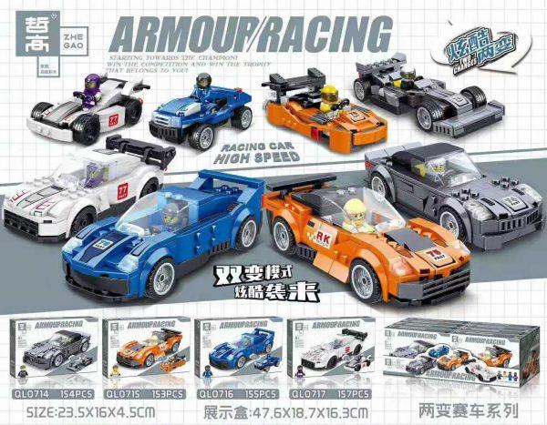 ZHEGAO QL0717 Two-change Racing Cars: 4 0