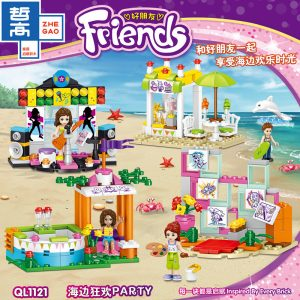 ZHEGAO QL1121 Good friend: Seaside carnival PARTY 4 small boxes 0