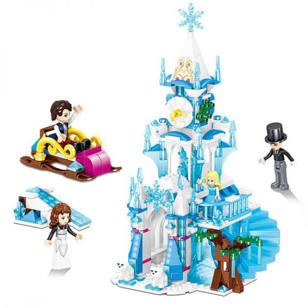 ZHEGAO QL1141 Windsor Castle Series Ice and Snow Season: Shadran Astronomical Clock Tower 0